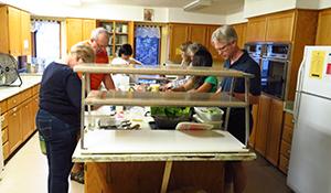 Photo: Volunteers preparing breakfast