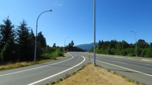 Photo: The turn into Nanaimo on Vancouver Island's east coast.